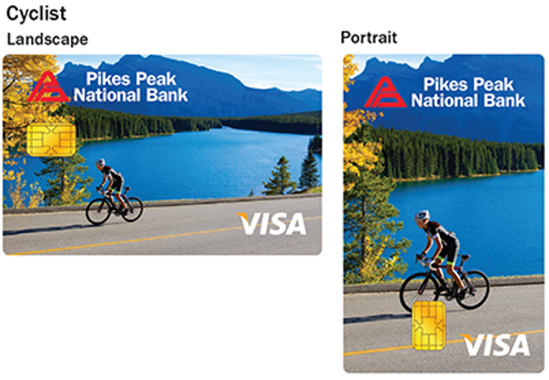 Cyclist debit card design