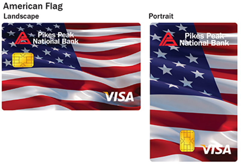 American Flag debit card design