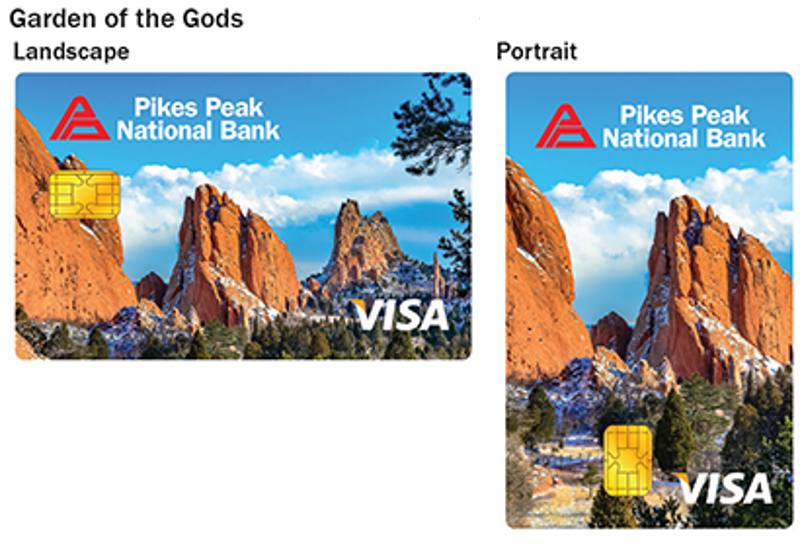 Garden of the Gods debit card design